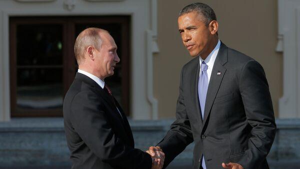 Predsednici Rusije i SAD Vladimir Putin i Barak Obama - Sputnik Srbija