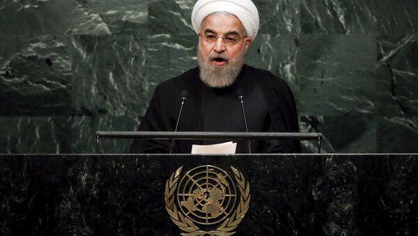 Iranski predsednik Hasan Rohani obraća se Ujedinjenim nacijama - Sputnik Srbija