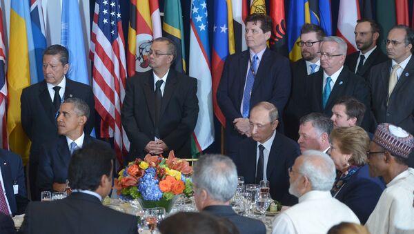 Barak Obama i Vladimir Putin - Sputnik Srbija