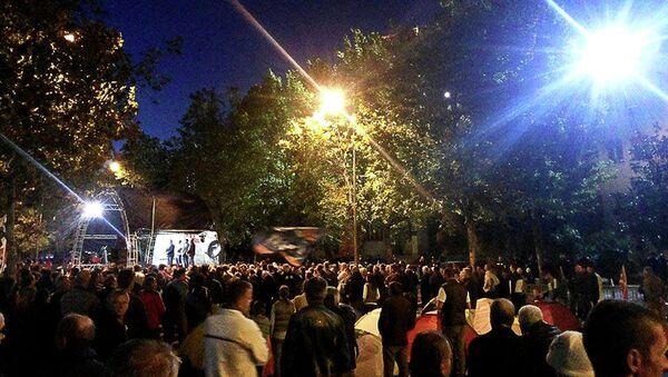 Četvrti dan antivladinog mitinga u Podgorici - Sputnik Srbija