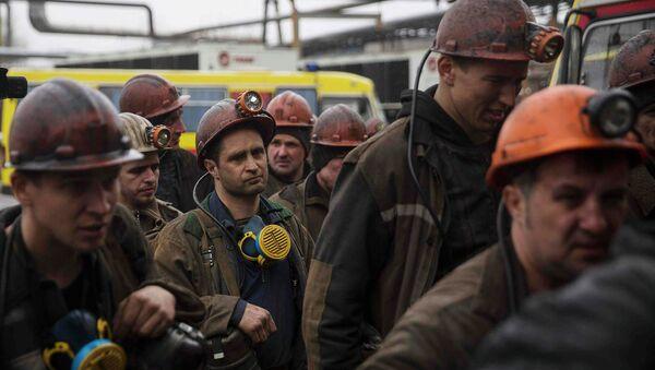 Рудари рудника Засјадко у Доњецку - Sputnik Србија