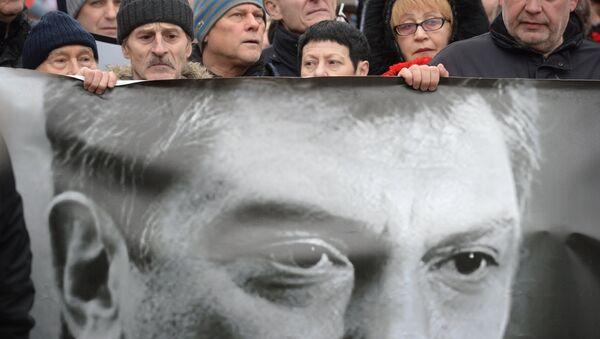 Pristalice partije Borisa Nemcova na maršu u Moskvi - Sputnik Srbija