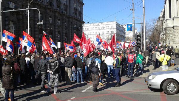 Присталице покрета Двери на протесту - Sputnik Србија