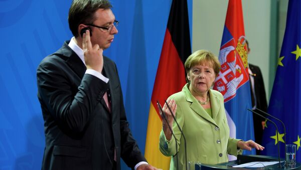 Angela Merkel i Aleksandar Vučić - Sputnik Srbija